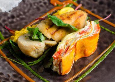Куриная грудка на решетке с овощным пирогом </br> 250г / 440 руб