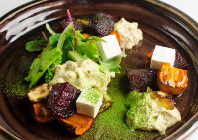 Печеные овощи с воздушным муссом из баклажанов и брынзой </br> 250г / 390 руб